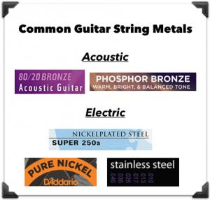 metalli per corde da chitarra